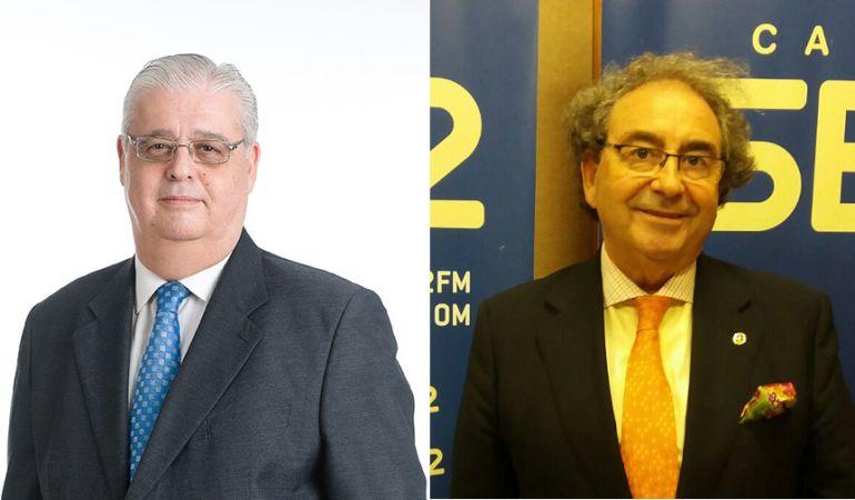 Santiago Álvarez Ortega, a la izquierda de la imagen, y José Antonio Fernández Cabrero son los candidatos a hermano mayor de La Macarena