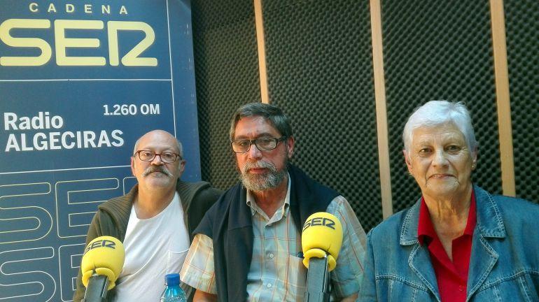 Jota, Juan A.Valcárcel y Carmen González esta mañana en Hoy por Hoy Campo de Gibraltar.