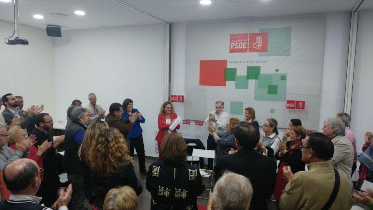 Blanca Flores tras presentar su candidatura a la militancia del PSOE de Cádiz