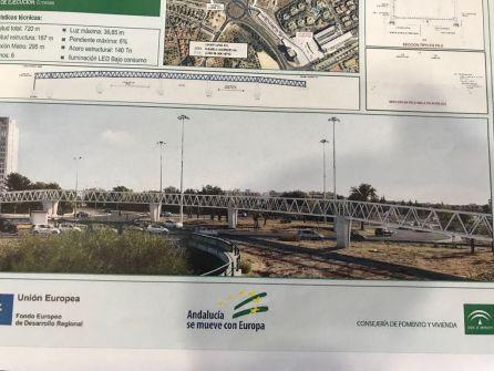 Proyecto de la pasarela ciclopeatonal entre Mairena del Aljarafe y el parque industrial PISA