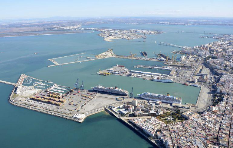 Vista aérea de la Bahía de Cádiz