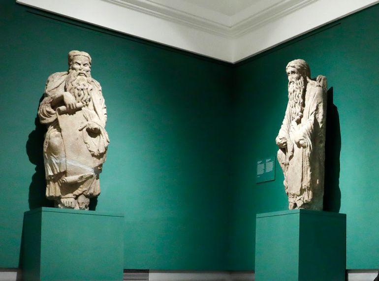 Abraham e Isaac, las dos esculturas del Pórtico de la Gloria que reclama el concello de Santiago