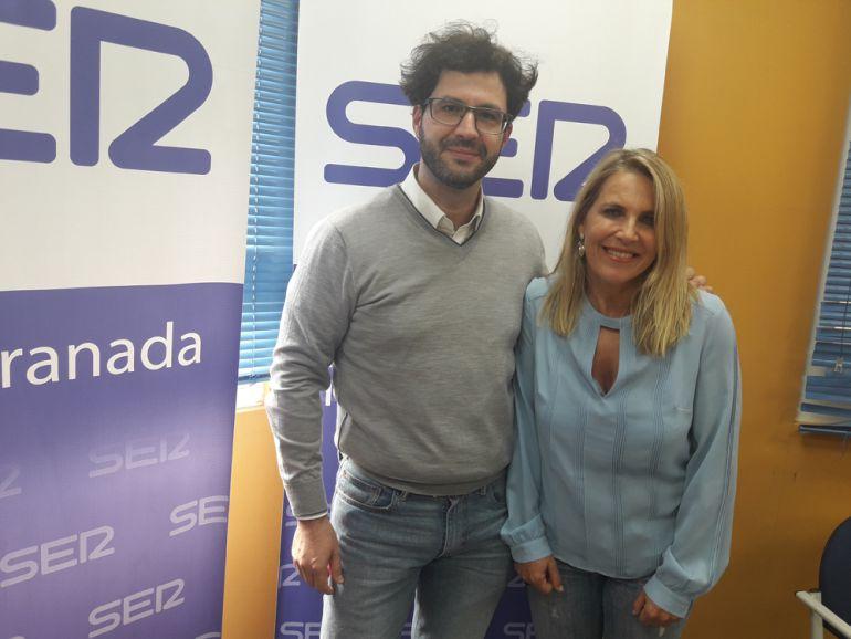 Mariche Huertas y Jorge Rodríguez Moraa, en los estudios de Radio Granada