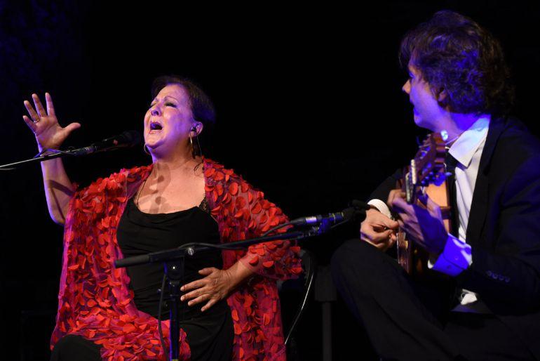 Actuación de Carmen Linares el pasado agosto en el parque García Lorca de Alfacar (Granada)