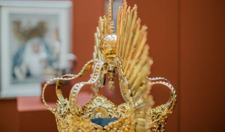 Esta es una de las piezas que se puede contemplar en la exposición del Labradores dedicada a la Virgen de la Angustia