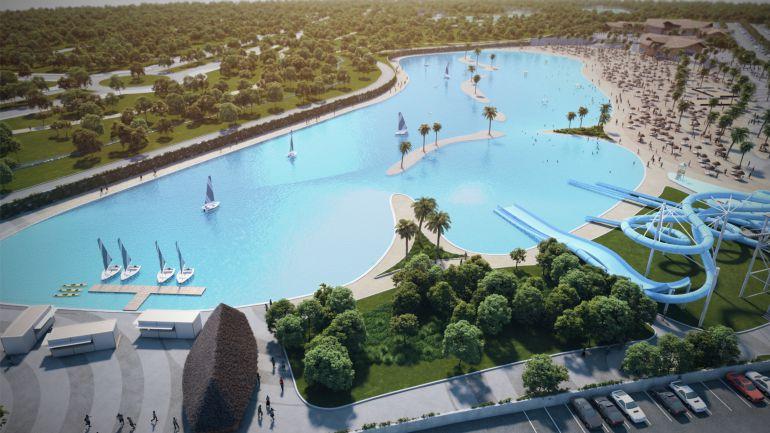 Imagen del complejo Alovera Beach planteado en Alovera.