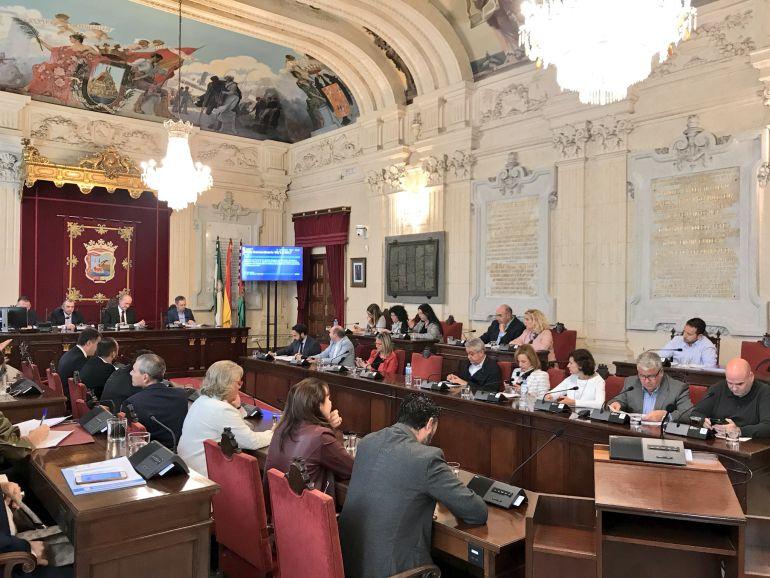 Pleno del Ayuntamiento de Málaga, este miércoles