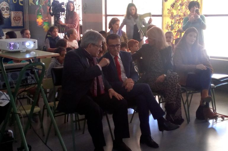 El Presidente de la Fundación Enrique Barón visitando el colegio