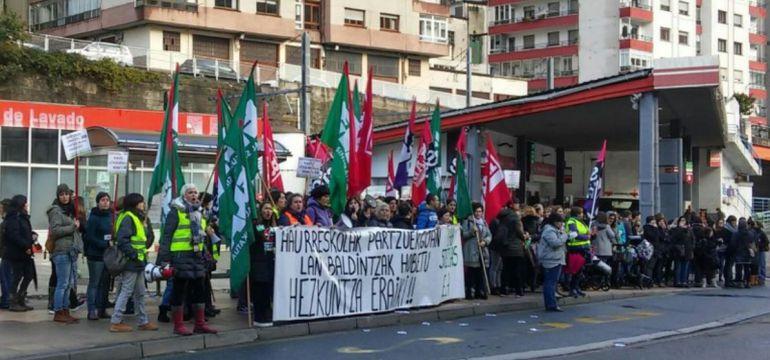 La huelga de las haurreskolas, supera el seguimiento de las anteriores según los sindicatos