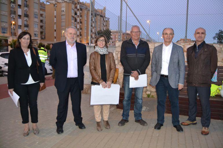 Visita del director general de Obras Públicas, Carlos Domingo, a Dénia.
