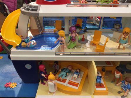 La exposición incluye la recreación de un crucero