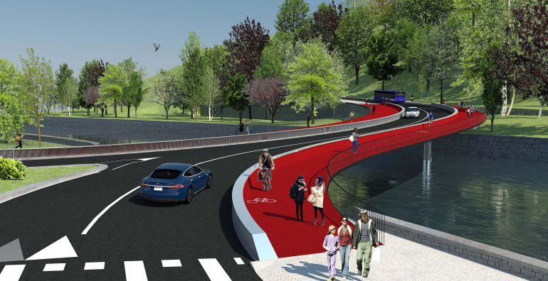 El puente de Astiñene se abrirá a todo tipo de vehículos en verano