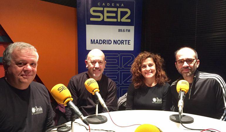 Santiago Rincón, Ángel Bailón, Vicky Vázquez y Manuel Pérez (de izquierda a derecha) han compartido con nosotros los 25 años de historia de Druida Teatro