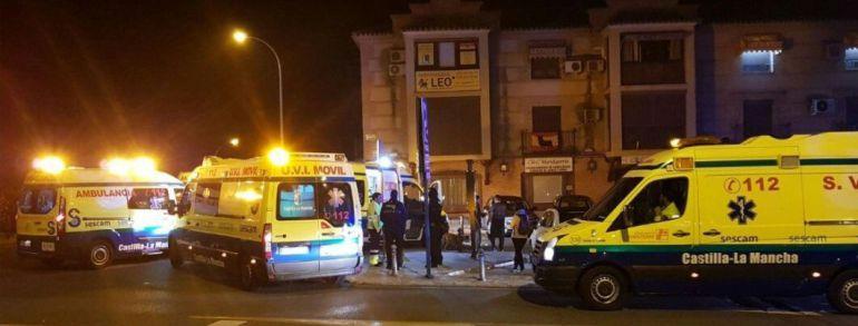 Trasladan al Hospital de Toledo a 5 afectados tras el incendio en la cocina de un hostal