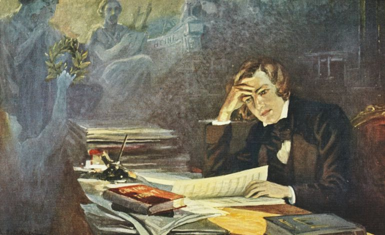 Painting of Robert Schumann