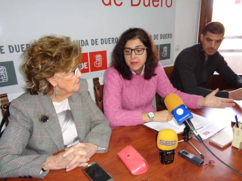 Leonisa Ull, Mar Alcalde y Julián Rasero, concejales del PSOE