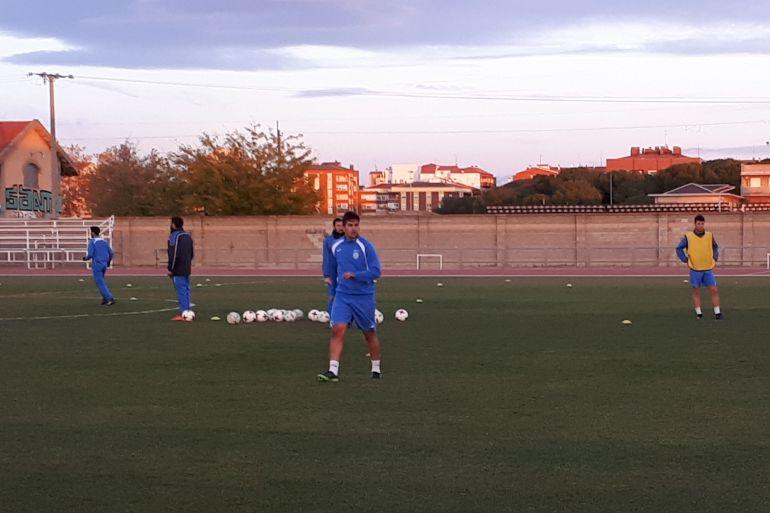 Fran Adeva durante el entrenamiento de este viernes