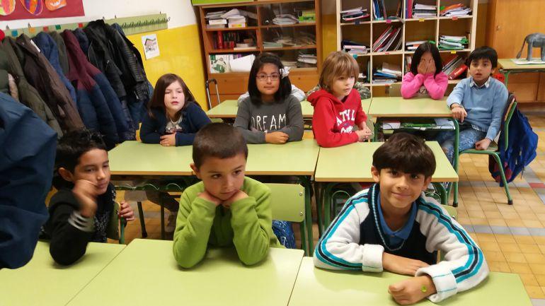 Estudiantes en su aula