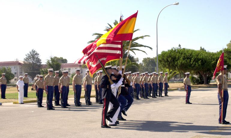 Una ceremonia militar conjunta