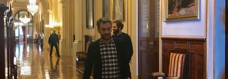 Xulio Ferreiro no concello da Coruña