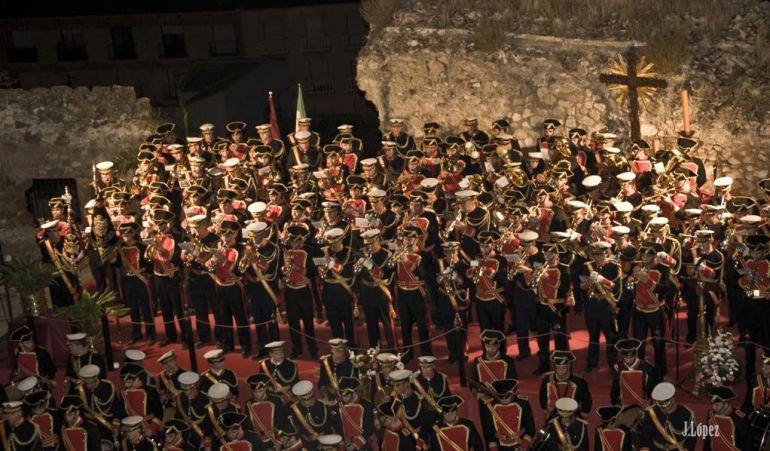 La Banda Arroquia-Martínez es la que mantiene una trayectoria más dilatada, en una actuación en el Castillo de Jódar