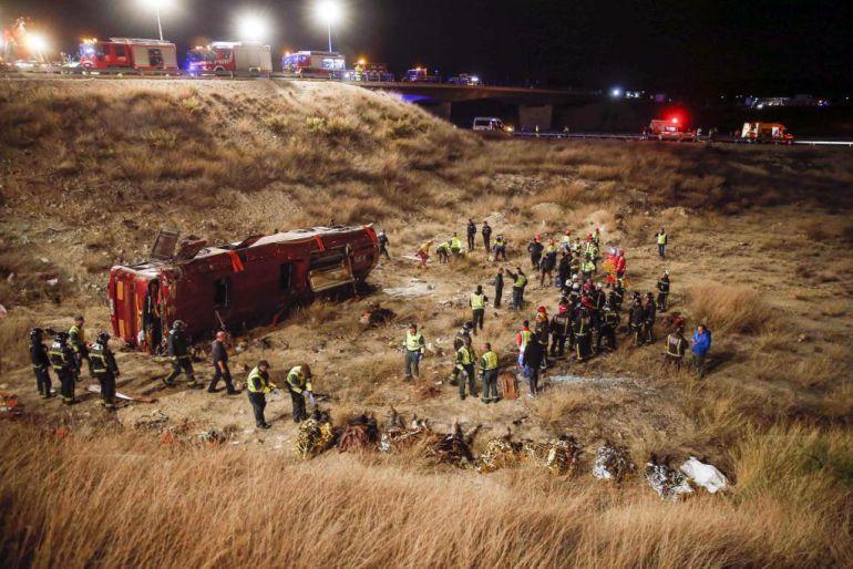 Devuelven el carné al conductor del autobus de accidente de Venta del Olivo
