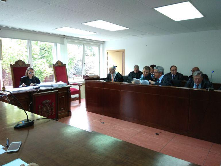 Sala de vistas de la Audiencia de Palencia