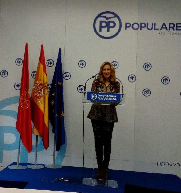 La presidenta del PP de Navarra, Ana Beltrán