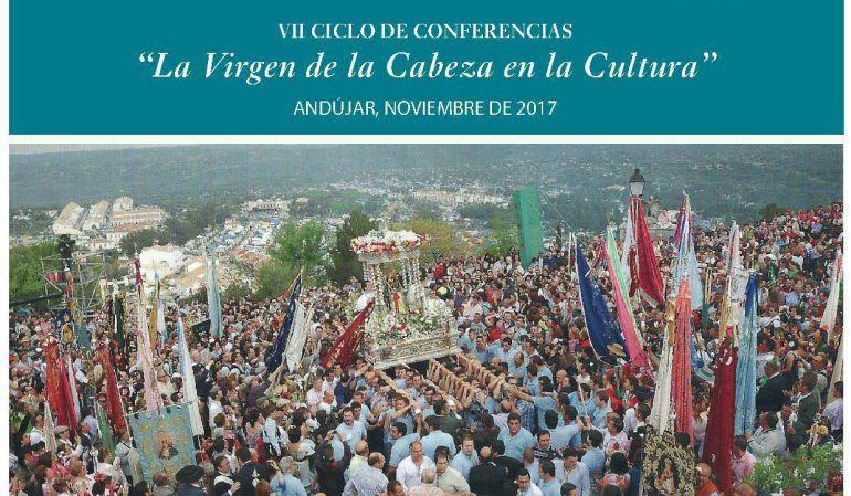 Cartel anunciador del VII ciclo de conferencias 'La Virgen de la Cabeza en la Cultura'