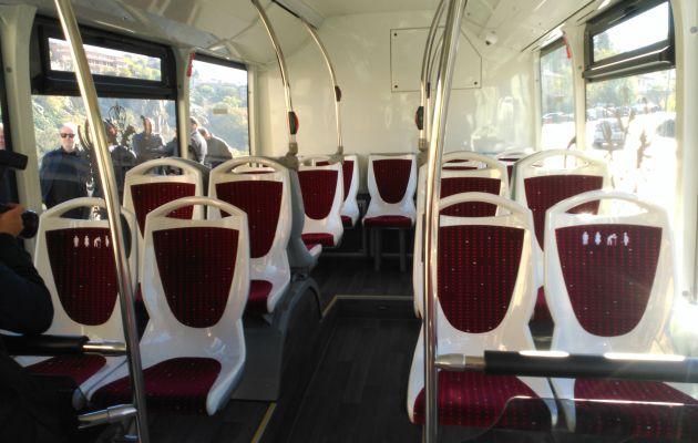 Interior de los nuevos autobuses urbanos