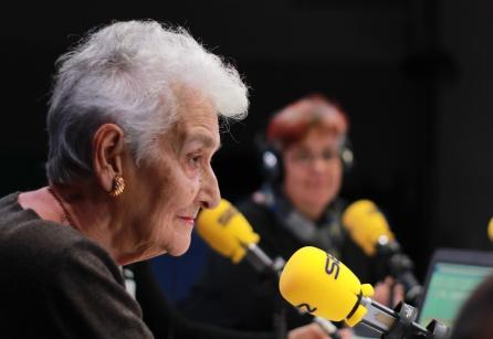Hilda Farfante durante la entrevista