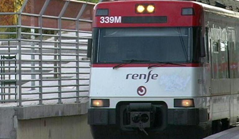 Locomotora de tren de Cercanías.
