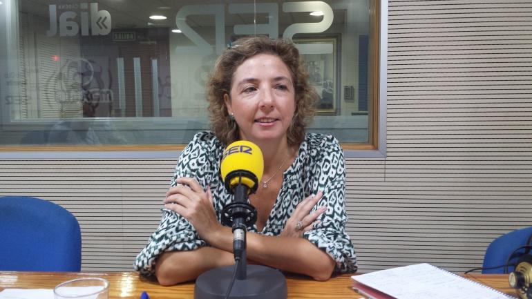 Lola Pérez, directora general de la Cámara de Comercio de Santa Cruz de Tenerife, en un momento de la entrevista en Hoy por Hoy, La Portada.