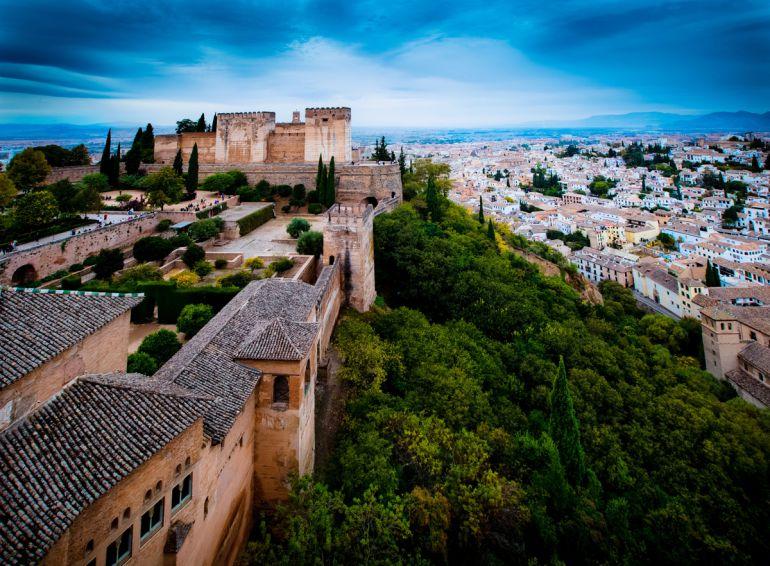 Vista de la Alhambra y la ciudad de Granada