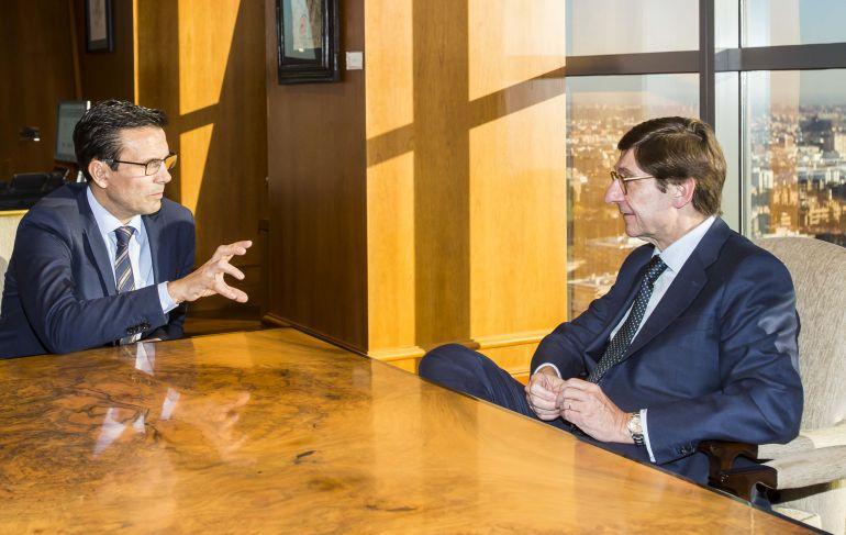 Reunión en el despacho del presidente de Bankia