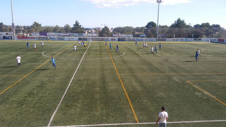 Imagen del partido jugado ayer en Santa Eulària