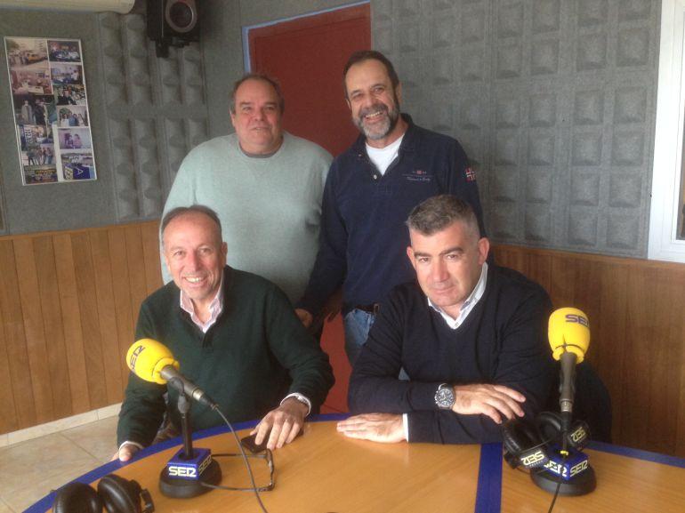 Aitor Morrás, Joan Pantaleoni, Joan Serra y Julián Aguilar