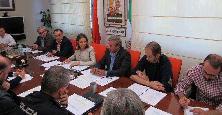 Miembros del Plan Infoca durante la reunión que se ha celebrado para analizar las actuaciones de este verano.