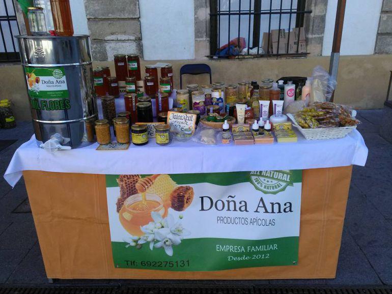 Gama de productos de Miel Doña Ana, empresaria familiar