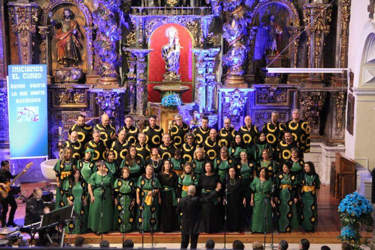 El Coro Gospel Good News durante el concierto que ofrecieron en la iglesia de San Miguel como clausura de Las Edades del Hombre