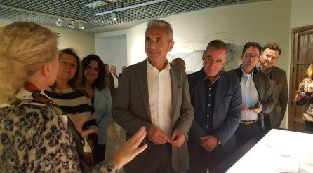 El consejero de cultura ha visitado tambien el museo Zabaleta-Miguel Hernández
