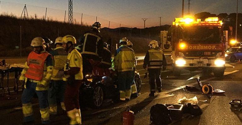 La colisión fue provocada  por un vehículo que conducía en sentido contrario