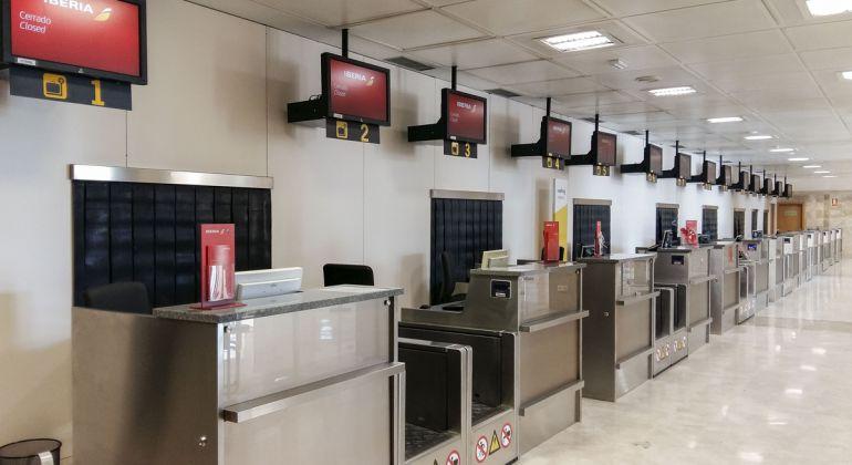 Aspecto de las nuevas terminales de facturación en el Aeropuerto de Granada-Jaén