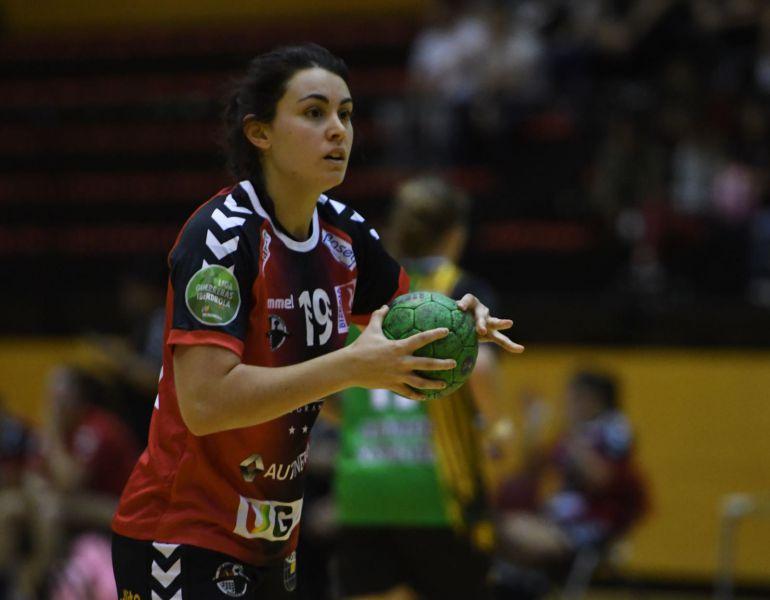 Paulina Pérez en un partido de esta temporada