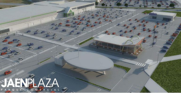 Proyecto del Parque Comercial Jaén Plaza previsto para su construcción.
