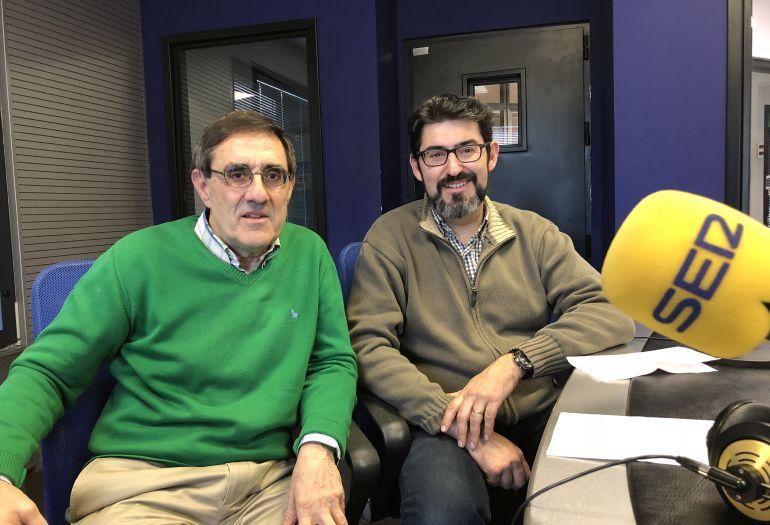 Manuel Rodríguez y Ricardo Chao en el estudio de Radio León