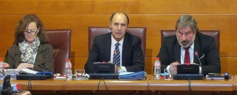 El expresidente, Ignacio Diego, en su declaración.