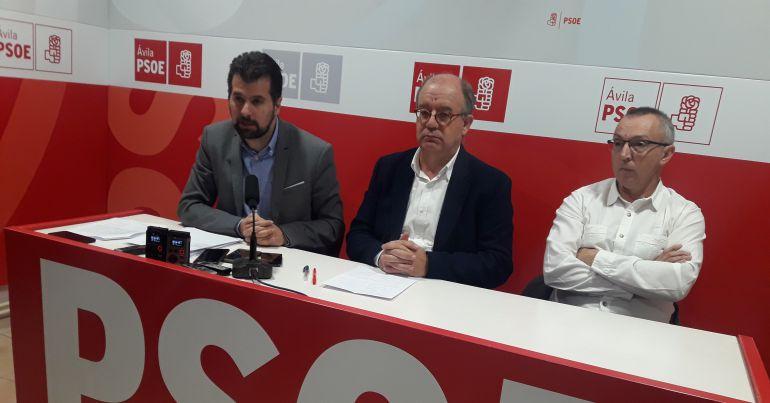 Luis Tudanca, Jesús Caro y el presidente del Comité de Ornua, Antonio del Río