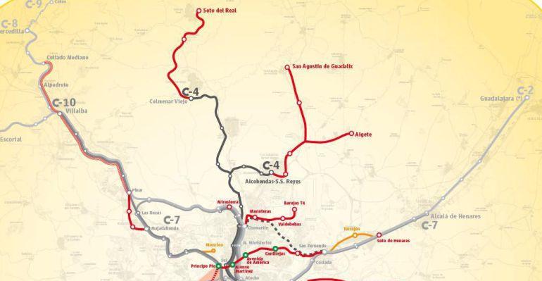 Proyecto de ampliación de la red de Cercanías en Madrid