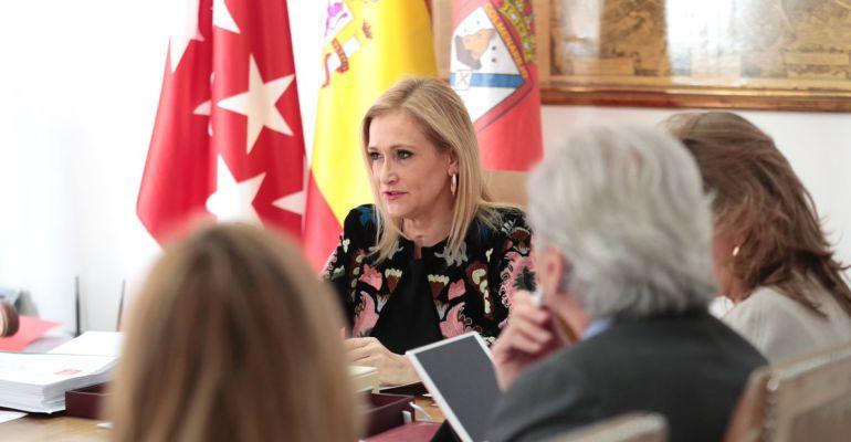 La presidenta regional, Cristina Cifuentes, este martes